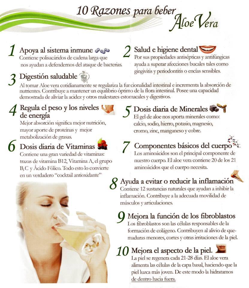 10 razones para beber Aloe Vera